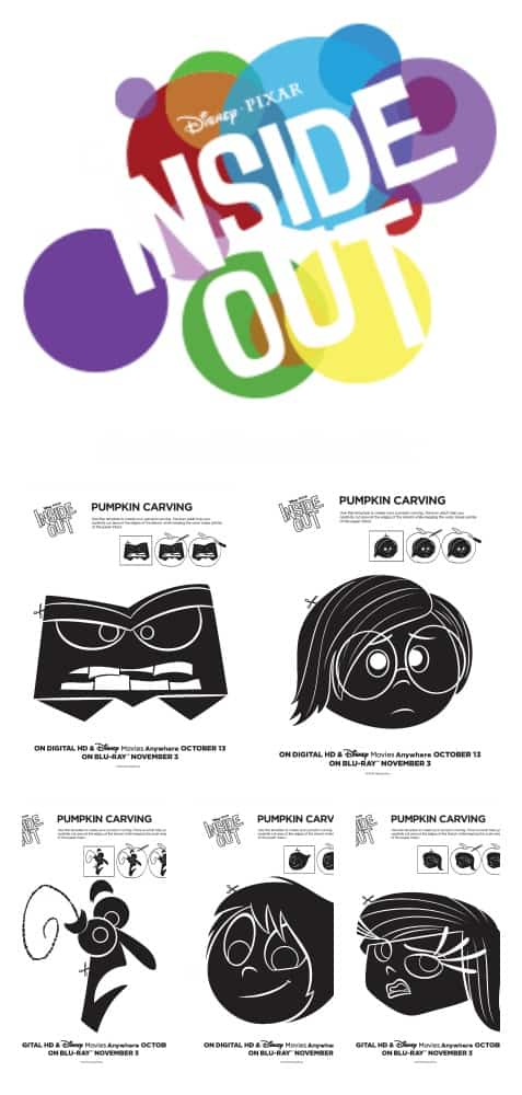 Inside Out Pumpkin Templates