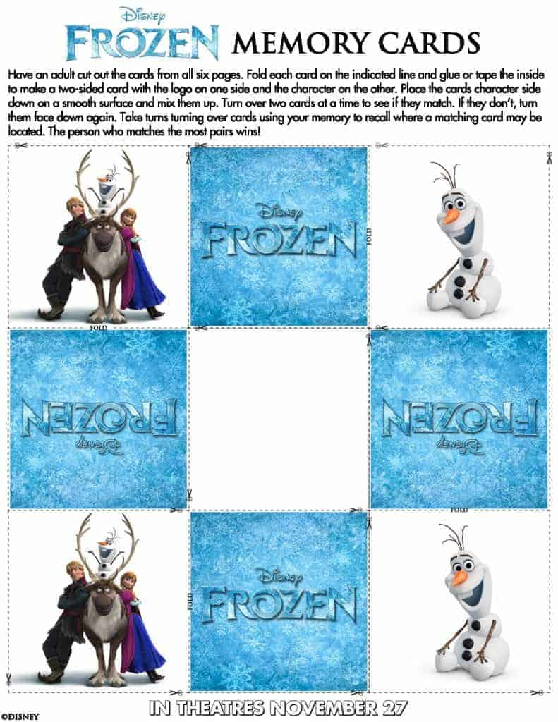 Frozen-Memory-Cards