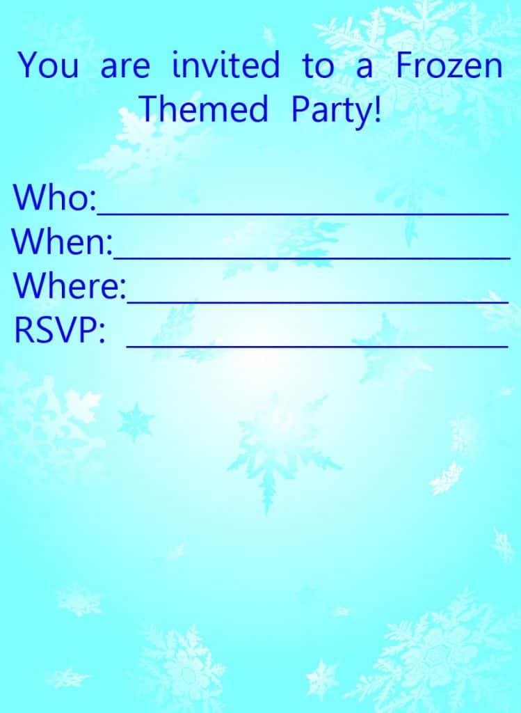 Frozen-Invitation