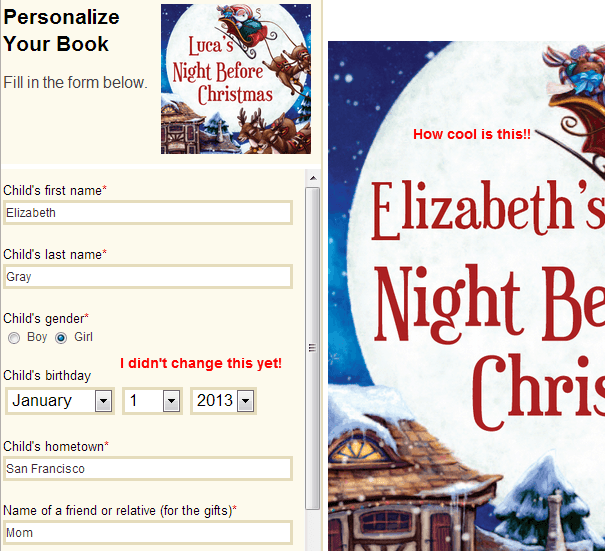 Night Before Christmas Personalized Christmas Book MyChronicleBooks