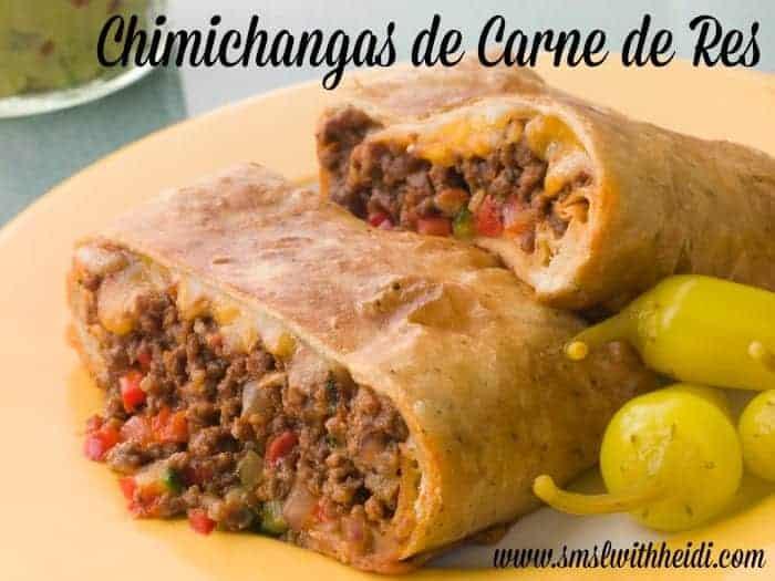 Chimichangas de Carne de Res (Shredded Beef Chimichangas )