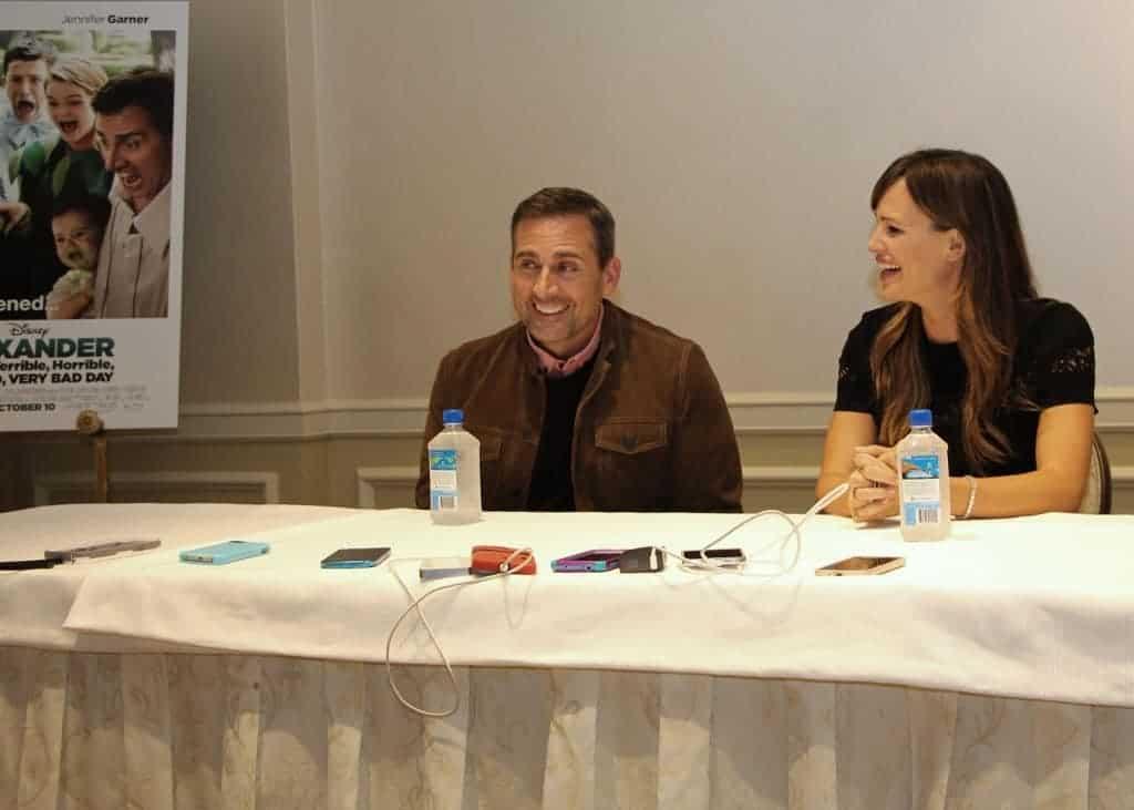Interviewing Steve Carell and Jennifer Garner