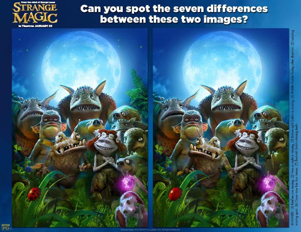 Strange Magic Spot the Differences