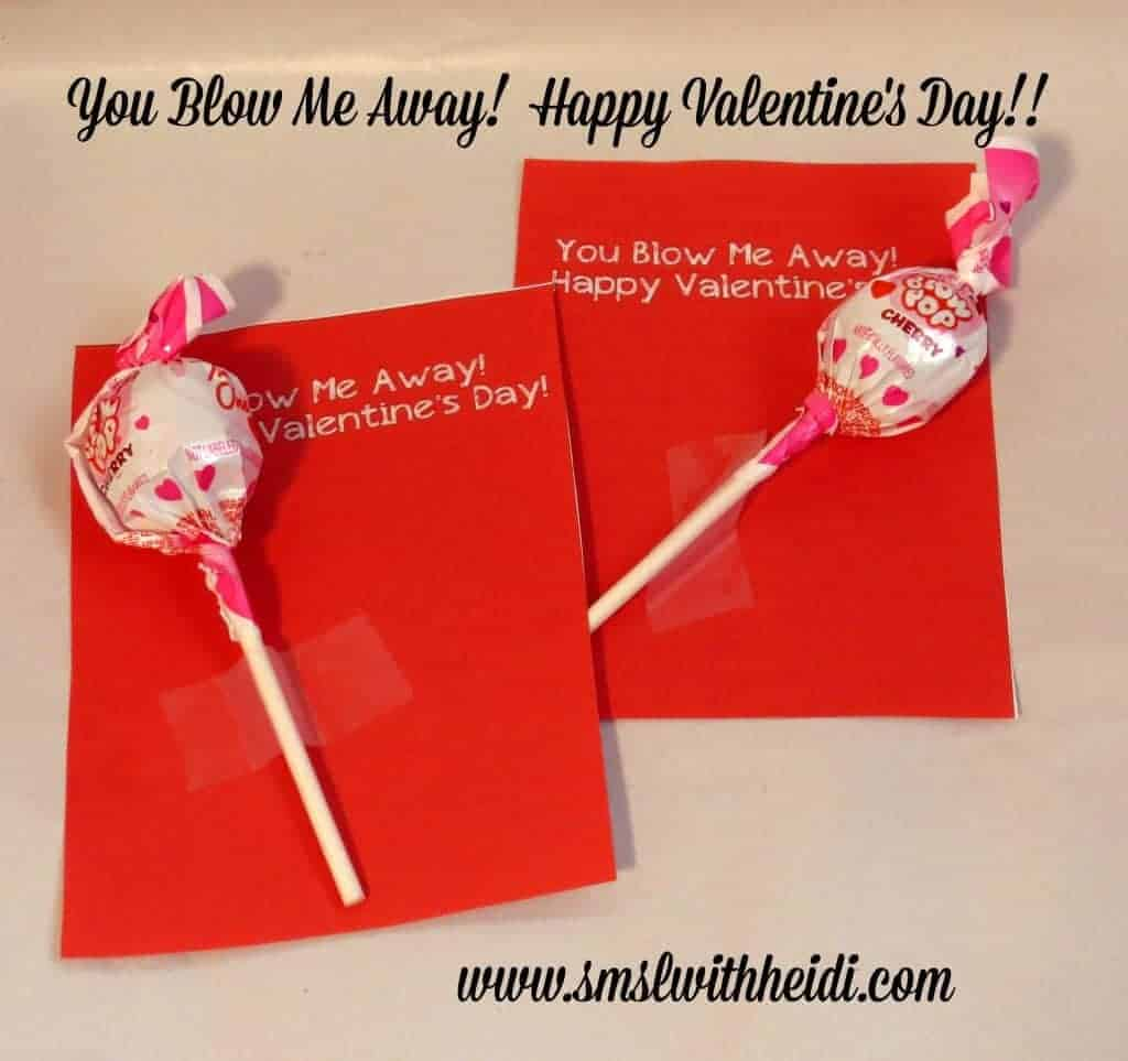 image relating to You Blow Me Away Valentine Printable known as Yourself Blow Me Absent Valentine
