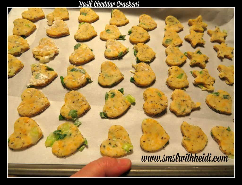 Basil Cheddar Crackers
