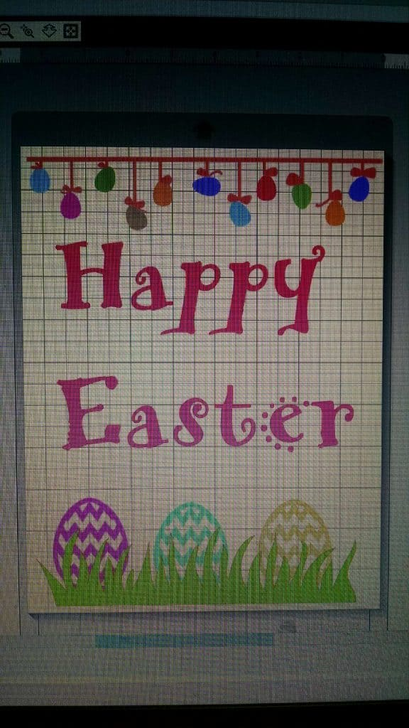 Happy Easter Silhouette Screen