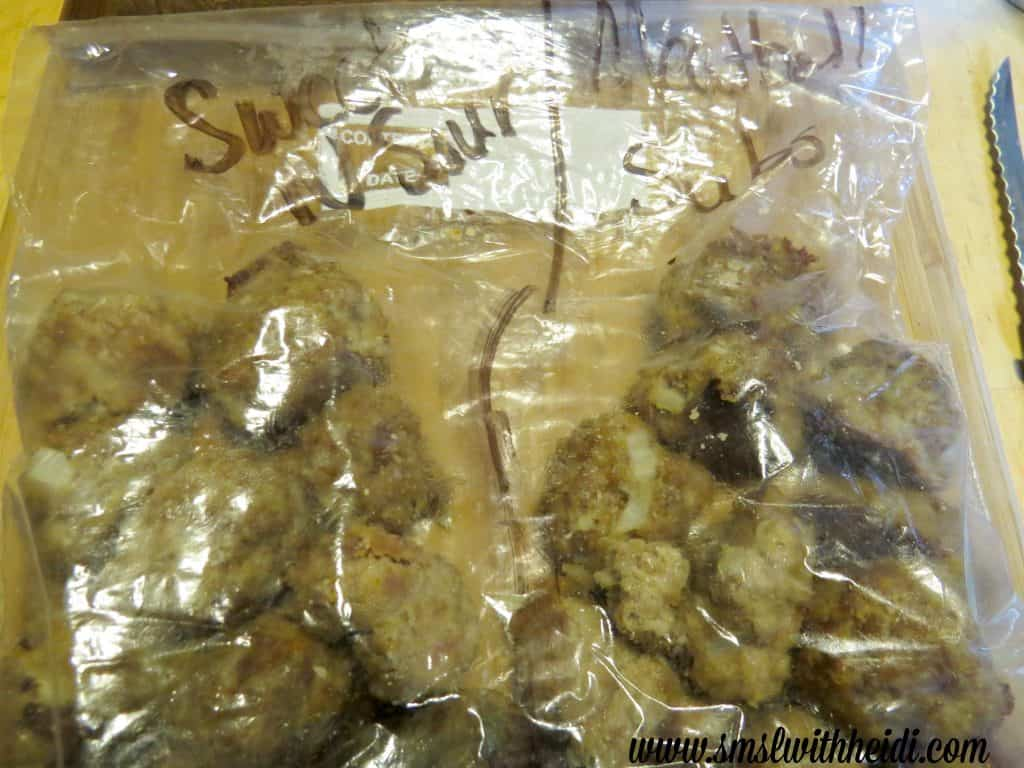 Meatballs quick freezer meals
