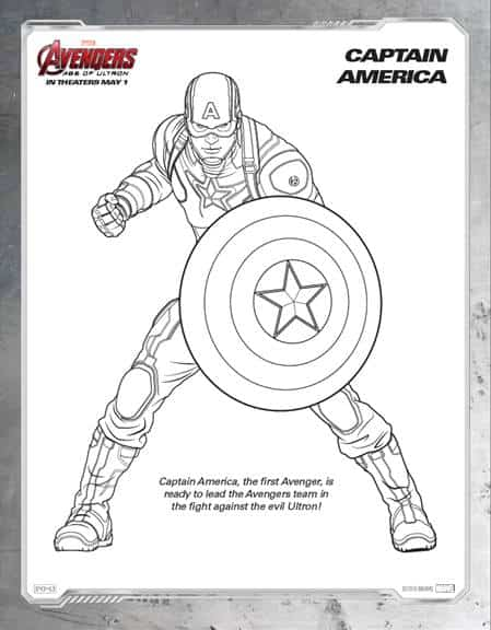 Captain America Coloring Sheets