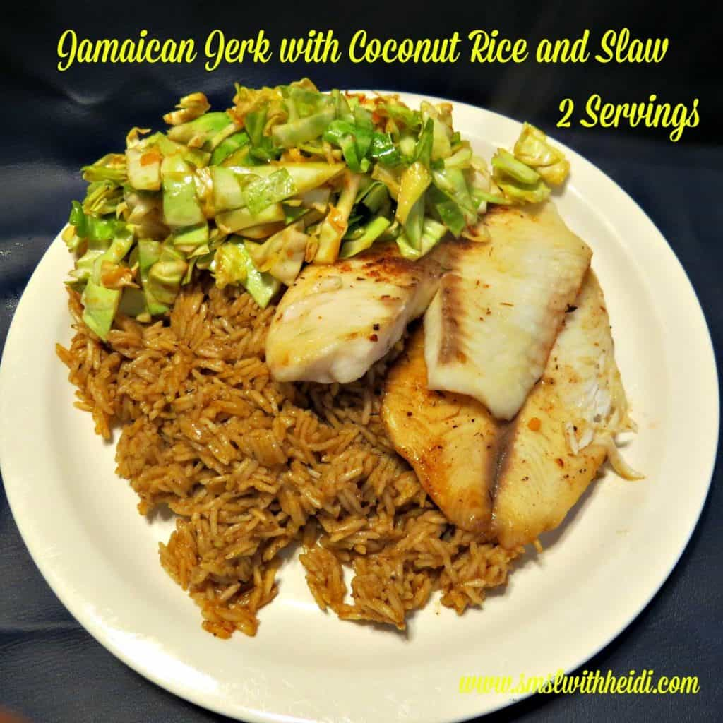 Jamaican Jerk with Coconut Rice and Slaw