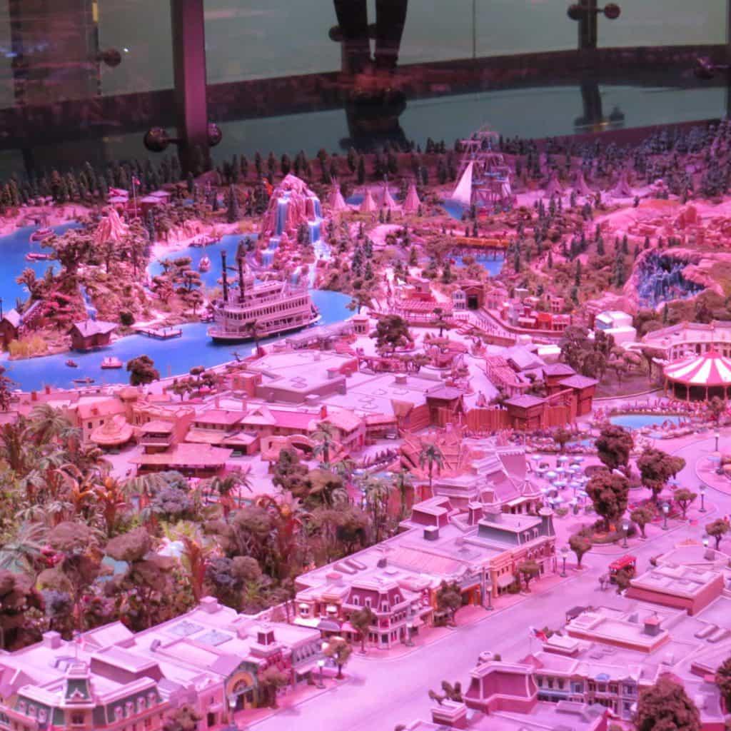 Disneyland to scale