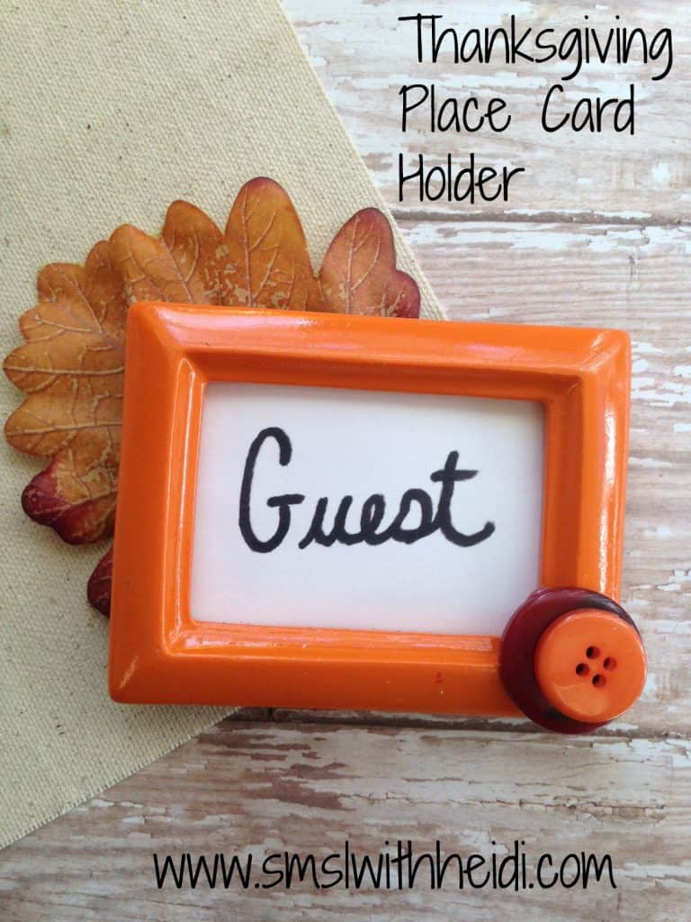 Thanksgiving Place Card Holder