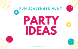Planning a party, need an idea for a summer library program? Then the Selfie Scavenger hunt is the idea for you! #Selfie #partyideas