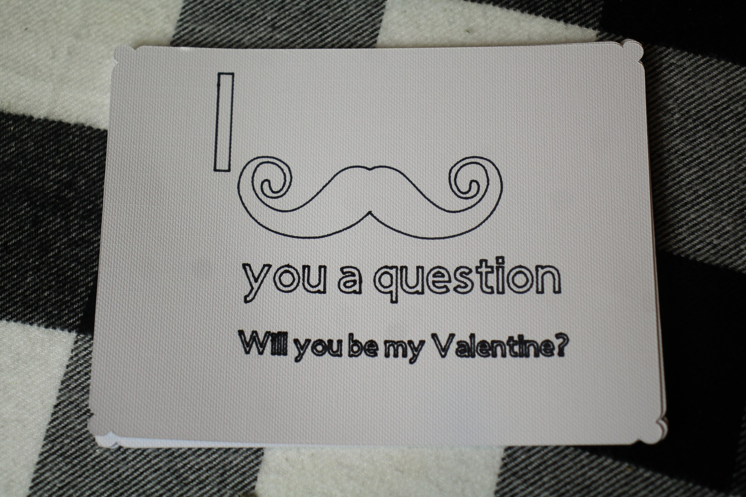 I Mustache You a Question Valentine's Day Card